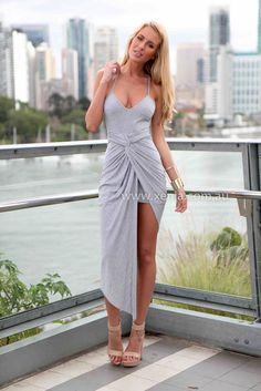 AMPHORIA MAXI DRESS - GREY FRNT.jpg (PNG Image, 667×1000 pixels) - Scaled (52%) Xenia $58
