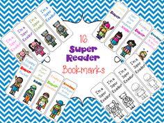 The Book Bug: Super Reader Bookmarks