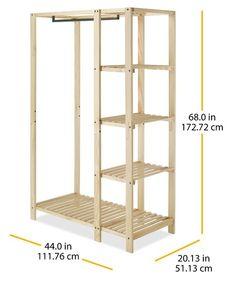 "Slat Wood 44"" W Closet System"