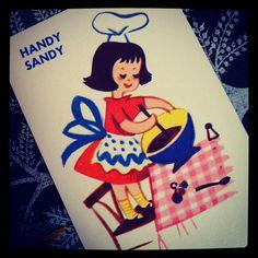 Vintage Handy Sandy Card