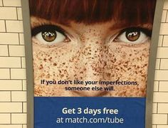 The Stir-Online Dating Site Doesn't Think Your Freckles Are Cute & This Ad Proves It