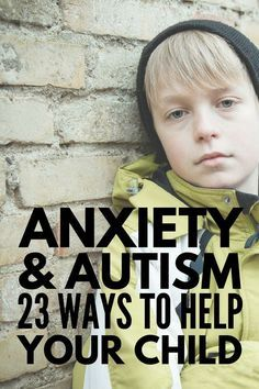 Anxiety and Autism   With over 23 coping strategies and anxiety activities for kids, we're sharing our best tips and strategies to help children with autism, sensory processing disorder, and other special needs deal with the feelings of anxiety, stress, and nervousness they often experience at home and in the classroom. These coping skills and play therapy ideas will help and inspire parents and teachers alike! #autism #asd #spd #playtherapy #kidstherapy #anxiety #mentalhealth