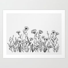 ideas for flowers drawing ink doodles Art Floral, Floral Drawing, Drawing Flowers, Painting Flowers, Tattoo Flowers, Art Flowers, Hand Drawn Flowers, Ink Doodles, Flower Doodles