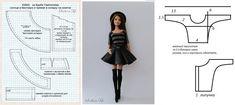 Sewing Barbie Clothes, Barbie Clothes Patterns, Doll Sewing Patterns, Clothing Patterns, Diy Clothes, Dress Patterns, Sewing Dolls, Made To Move Barbie, Barbie Accessories