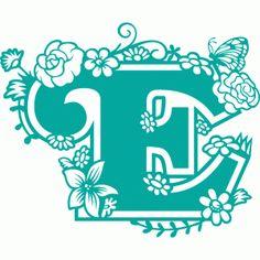 Silhouette Design Store: secret garden e Silhouette Cameo, Silhouette Portrait, Silhouette Projects, Silhouette Design, Letter Stencils, Stencil Templates, Monogram Alphabet, Monogram Decal, Lettering Tutorial