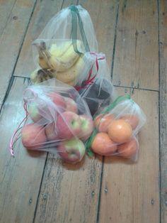 [SAC A LÉGUMES RÉUTILISABLES] Un tutoriel complet pour réaliser vous-même des sacs à légumes. Et en prime, une super idée pour coller l'étiquette du prix en supermarché !