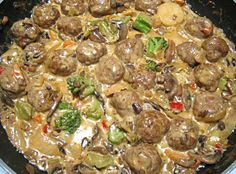 Nancy's Veggie Meatball Medley Shared on https://www.facebook.com/LowCarbZen | #LowCarb #Dinner #Veggies