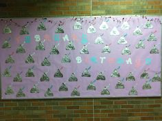 Candy Kisses for February's Birthday Bulletin Board