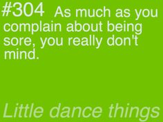 i don't mind if it comes from dance