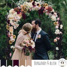 5 Paletas perfeito para um casamento do vintage do outono - Burgundy Blush