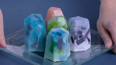 DIY These Gemstone Soaps for More Luxe Showers on the Scene: https://thescene.com/watch/presents/diy-projects-for-grown-ass-women-how-to-make-gemstone-soaps