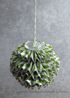 Tinker With Ink & Paper: Ornament #5: Sparkly Accordion Globe