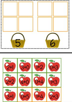 Petit jeu d'additions simples sur le thème des #pommes #maths #free #printables Addition Simple, Math Addition, Addition And Subtraction, Kids Math Worksheets, 1st Grade Worksheets, Autumn Activities, Book Activities, Preschool Curriculum, Kindergarten