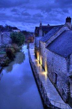 The mill stream at Chablis, Burgundy, France