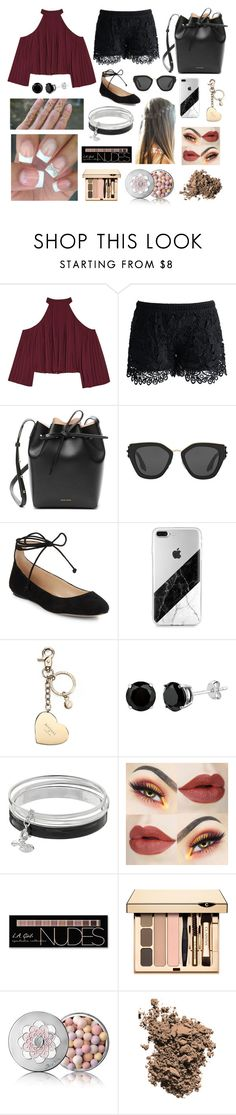 """""""Untitled #160"""" by vinimalik ❤ liked on Polyvore featuring W118 by Walter Baker, Chicwish, Mansur Gavriel, Prada, Karl Lagerfeld, Aspinal of London, Rune NYC, Dana Buchman, Charlotte Russe and Guerlain"""