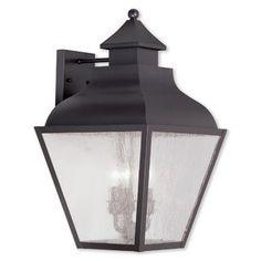 Alcott Hill Gahagan 3-Light Outdoor Wall Lantern