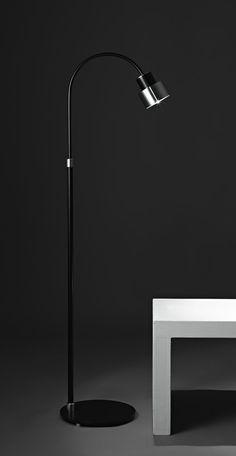 Kimada floor lamp black lacquered