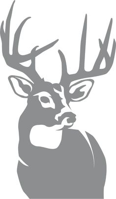 The Perfect 10 Whitetail Deer Big Game Wall Decal will look great in that man cave, cabin, garage or any room in your home decorated with an outdoor theme. Deer Stencil, Stencil Art, Stenciling, Deer Drawing, Hunting Tattoos, Deer Pictures, Deer Silhouette, Diy Tumblers, Wood Burning Art