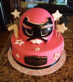 Pink power ranger cake