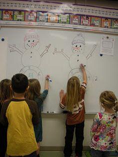 snowman math races # Pin++ for Pinterest #