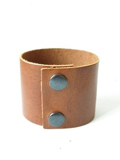 Extra leather bracelet cuff by System63 on Etsy. Great as an add on to your scarf..