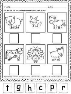 Farm Animals Beginning Sounds FREEBIE by Sherry Clements | TpT Pre K Activities, Kindergarten Activities, Educational Activities, Preschool Activities, Preschool Curriculum, Preschool Worksheets, Preschool Learning, Homeschooling, Animal Worksheets