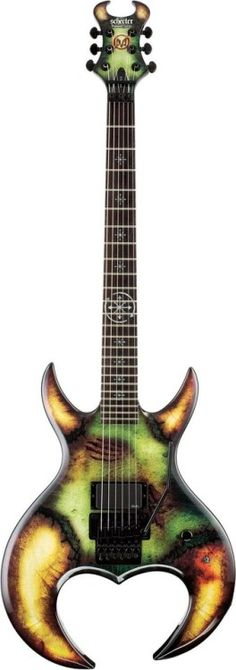 2010 Schecter Flattus Diamond Series Flattus Maximus Gwar Lardys Chordophone of the day 2017 --- https://www.pinterest.com/lardyfatboy/