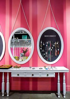 Redcurrent store by Studio Gascoigne, Wellington #jewellery #display -Jewelry Display idea.   A mirror next to similarly  framed jewelry is effective!