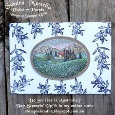 Tuscan Vineyard : Sandra Mastello : Stampin Up! : Violet vs Purple