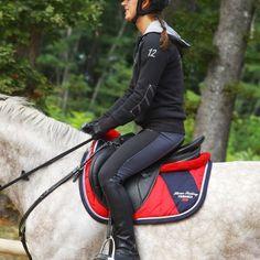 GROUPE 8 Equitation - AMORT. LENA POLAIRE ROUGE FOUGANZA - Equipement cheval au travail