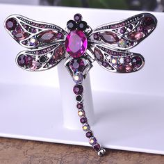Brooches New Colares Hijab Accessories Shiny Fashion Women Rhinestone Broches Bouquet Kawaii Dragonfly Brooch Pins Colar Feminino Broch Cute Jewelry, Jewelry Accessories, Fashion Accessories, Fashion Jewelry, Women Jewelry, Boho Jewelry, Jewelry Crafts, Jewelry Sets, Jewelery