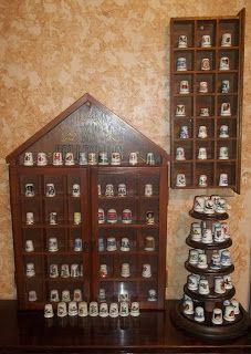 Vitrinas para Dedales - Dedales de colección. Un sitio de Gritos ...