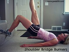 Shoulder Bridge Burners: Using only a set of stairs! (Video demo!)