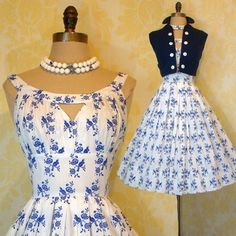 Vintage 50s Keyhole Neckline White Sun Dress Novelty Birds Bolero Party Set s M | eBay