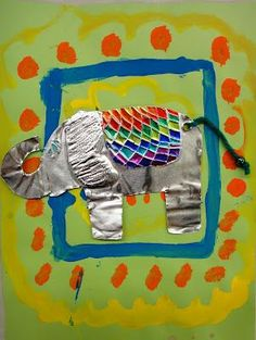 3rd Graders have been learning about the culture of Thailand, and so I decided we would create a project based on one of Thailand's most beloved animals, the elephant. The first day we drew our eleph