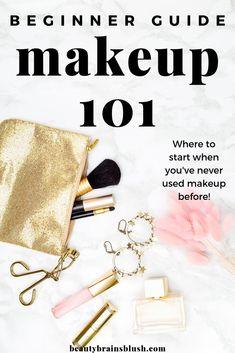 Makeup 101 for Beginners: Where to Start. - Makeup 101 for Beginners: Where to Start – BeautyBrainsBlush - Best Makeup Tips, Makeup 101, Free Makeup, Best Makeup Products, Makeup Basics, Clean Makeup, Makeup Hacks, Makeup Ideas, Makeup For Older Women