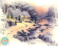 Candamar / Thomas Kinkade - Evening Glow - Cross Stitch World