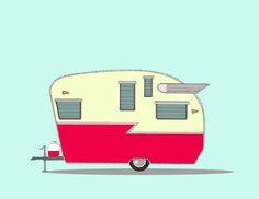 Vintage Camper Drawings New Series