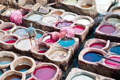 dye vats in Morocco. love, love, love.