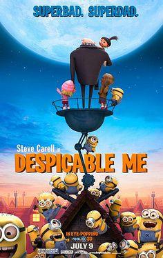 Gru - Mi villano favorito Despicable Me Directors: Pierre Coffin, Chris Renaud Stars: Steve Carell, Jason Segel, Russell Brand. Kid Movies, Family Movies, Cartoon Movies, Great Movies, Disney Movies, Pixar Movies, Disney Cinema, Minions Minions, Disney Films