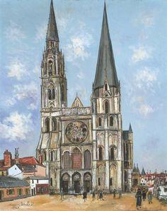 Maurice Utrillo, La Cathéthdrale de Chartres