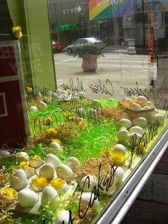 Easter Window Display by Pinwheel Bakery, via Flickr