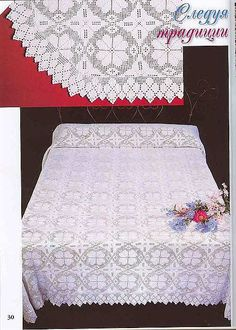 Vintage like bedspread squares with diagrams