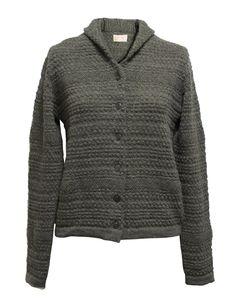 Fad Three grey sweater Long asymmetrical sweater, with rear zip ...