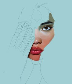 Design grafico art Ideas for 2019 Digital Portrait, Portrait Art, Digital Art, Portraits, Gcse Art Sketchbook, Minimalist Painting, High Art, Face Art, Art Inspo