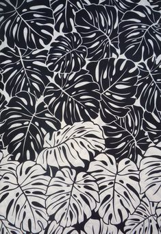 Hawaiian Black/White/Tan Leaf Fabric; bar stools? Accent pillows? Porch? Den/LR?