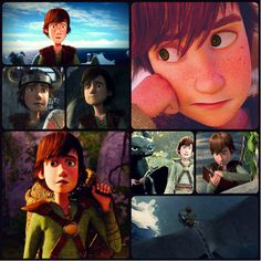 """""""How to Train Your Dragon"""" - Hiccup and Toothless."""
