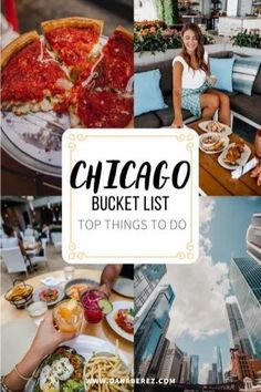 Ultimate Chicago Bucket List that includes the top things to do in Chicago, the best restaurants, and Chicago rooftop bars to check out in the Windy City. Chicago Aesthetic. Chicago travel guide | #chicago