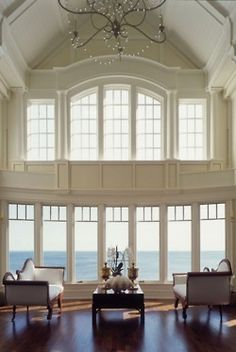 interior design, home decor, rooms, living rooms, windows Home Design Decor, House Design, Home Decor, Design Room, Beautiful Space, Beautiful Homes, Beautiful Ocean, Beautiful Things, Classic Decor