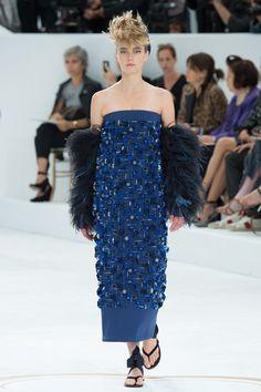 Sigrid Agrenat Chanel Couture, F/W 2014. #trend #royal blue  K